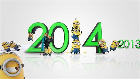 minions banana wallpaper hd happy new year 2014 wallpaper images facebook cover photos