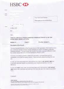 Response Letter To Notice Of Default Help With Hsbc Default Notice
