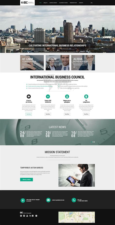 Business Responsive Website Template 55478 Firm Responsive Website Template