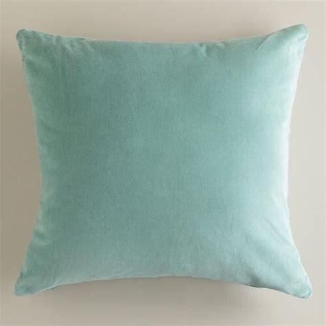 Velvet Throw Pillows Blue Surf Velvet Throw Pillows World Market