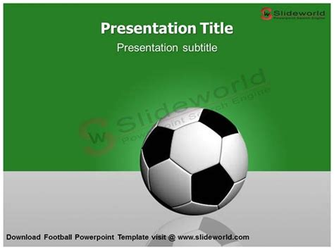 Download Football Powerpoint Template Slide World Authorstream Powerpoint Football Template