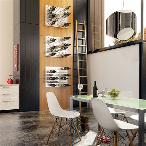 stact wine wall shoebox dwelling finding comfort