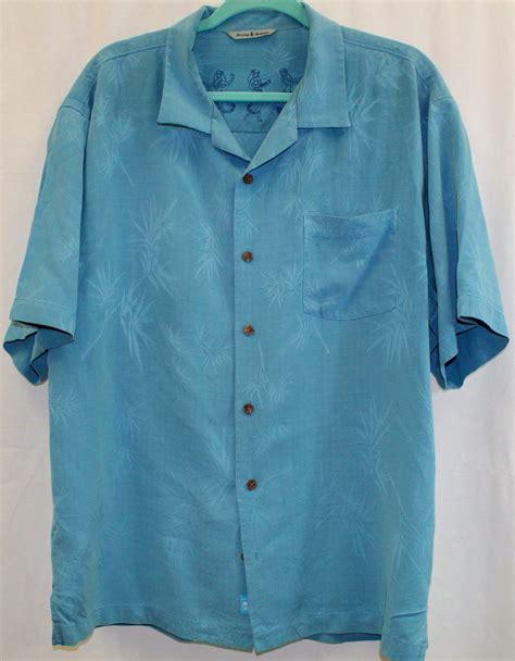 leaf pattern shirt tommy bahama shirt xl blue leaf pattern 100 silk hawaiian