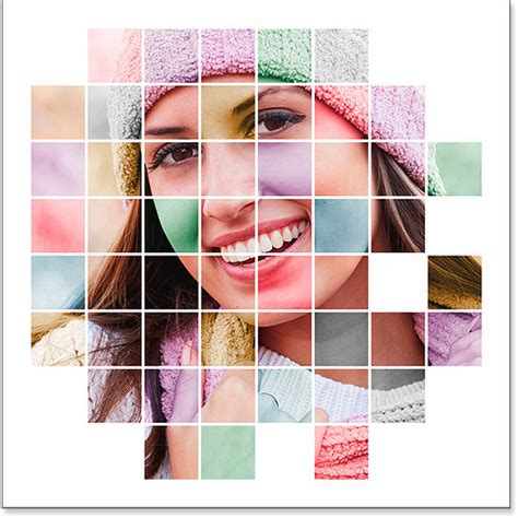 color effects for pictures color grid photo display effect with photoshop