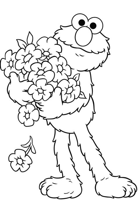 elmo halloween coloring pages print elmo carry interest elmo coloring pages pinterest