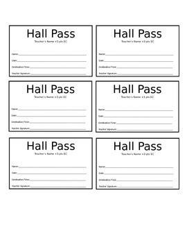 Bathroom Pass Template High School by Pass Template By The Physics Teachers Pay Teachers