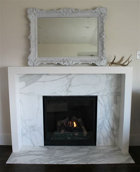 modern marble fireplace the granite gurus before after calacatta gold