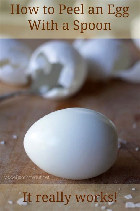 how to peel an egg with a spoon boiled eggs