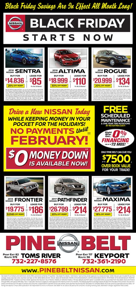 nissan lease special nissan lease specials