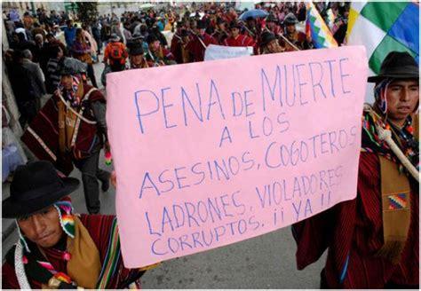 imagenes de justicia comunitaria en bolivia consejo ind 237 gena boliviano aprueba la castraci 243 n a