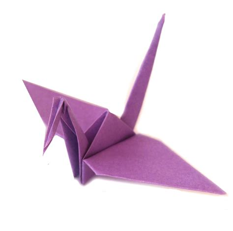 origami of crane light purple origami cranes graceincrease custom origami
