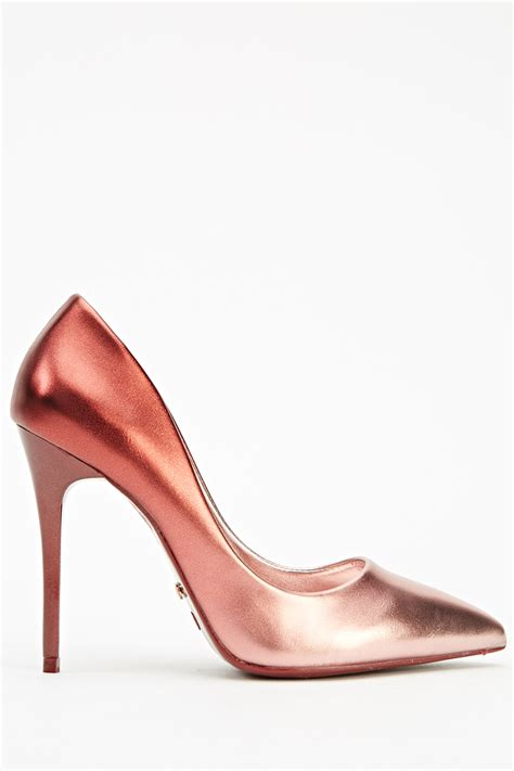 metallic high heel shoes high heel metallic court shoes just 163 5