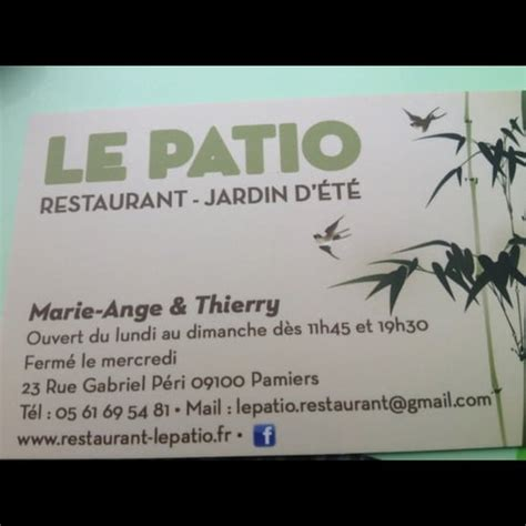 Le Patio Pamiers by Le Patio Restaurant De Cuisine Traditionnelle 224 Pamiers