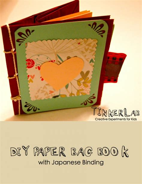 diy paper bag book with japanese binding free