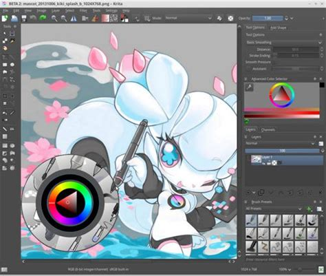 layout artist software krita really cool software for digital drawing or
