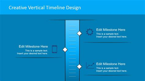 Vertical Timeline With 3 Milestones Slidemodel Vertical Timeline Template Powerpoint