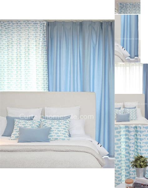 special bedroom design whale patterns special design cheap bedroom curtains