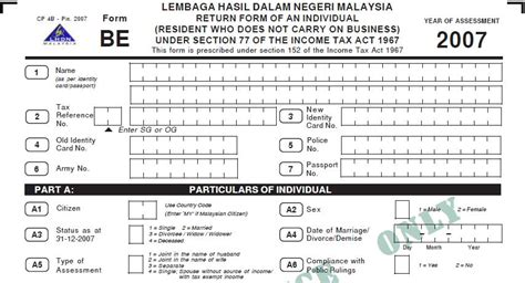 be form 2015 be form income tax return form malaysia loan