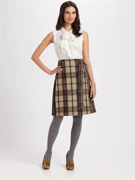 A Line Plaid Skirt a line plaid skirt dress ala
