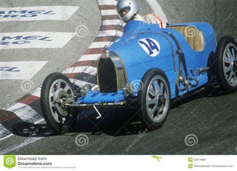 vintage bugatti race car racing a classic bugatti sports car at the laguna seca