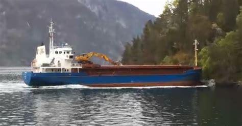 boat crash norway boat fail dozy captain crashes into norwegian fjord
