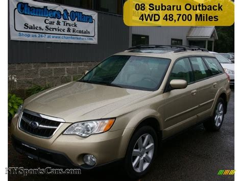 gold subaru outback 2008 subaru outback 2 5i limited wagon in harvest gold