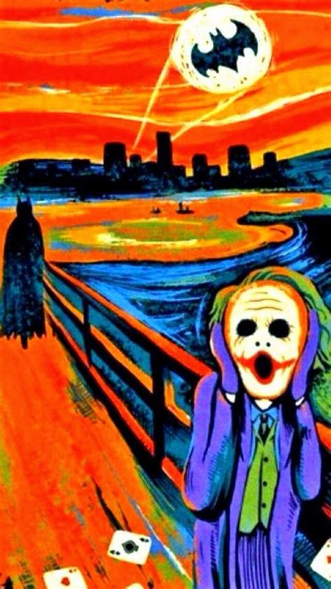 Scream Batman And Joker Iphone All Hp the joker s take on the scream wallpapers for iphone jokers the o jays and the