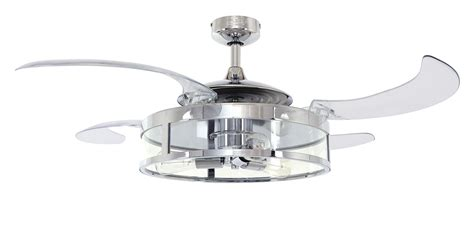 retractable blade ceiling fan retractable blade ceiling fan fanaway chrome