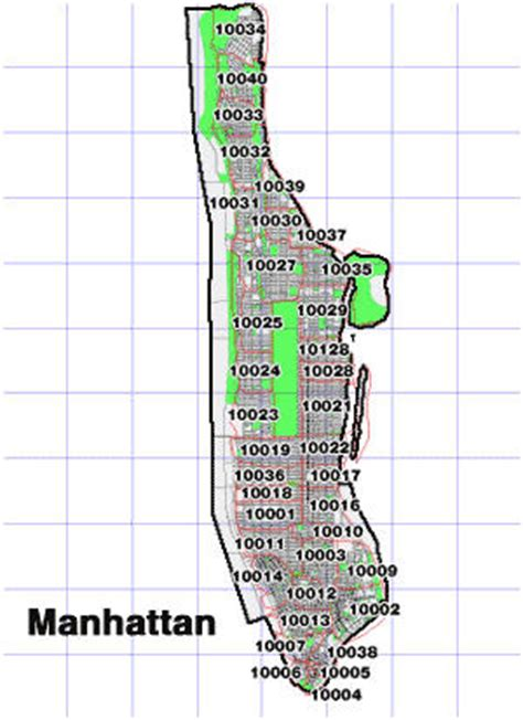 zip code map nyc manhattan nyc zipcodes