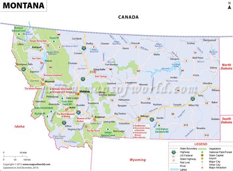 usa montana map montana map map of montana usa mt map