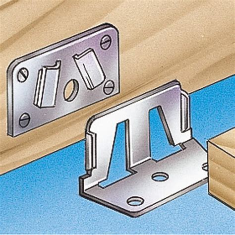 bed rail fasteners center rail fasteners 2 male and 2 female pieces rockler woodworking and hardware