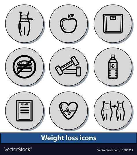 light weight loss light weight loss icons royalty free vector image