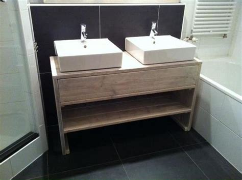 wastafelmeubel voor wc steigerhouten badmeubel spiegel en wc fonteintje maken
