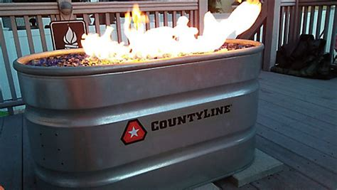 diy natural gas stock tank fire pit tractor supply