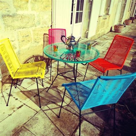 Table Jardin Couleur by Salon Jardin Couleur Ensemble Table Chaise De Jardin