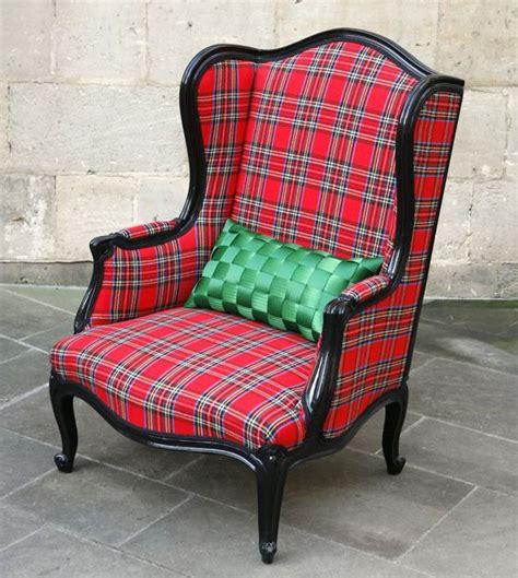 Tartan Chair Tartan Fireside Chair Recycled Furniture Vintage