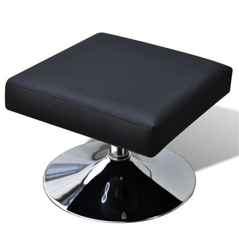 Tv Ottoman Faux Leather Tv Armchair W Ottoman Stool In Black Buy Chair Ottoman Sets