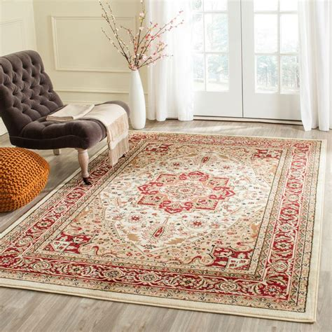 10 X 14 Room Size Rugs by Safavieh Lyndhurst Ivory 10 Ft X 14 Ft Area Rug