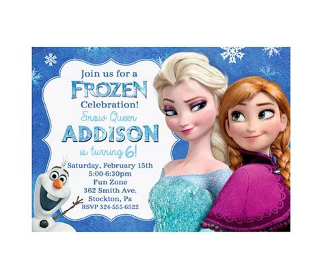 frozen printable editable invitations 9 best images of frozen birthday invitations editable