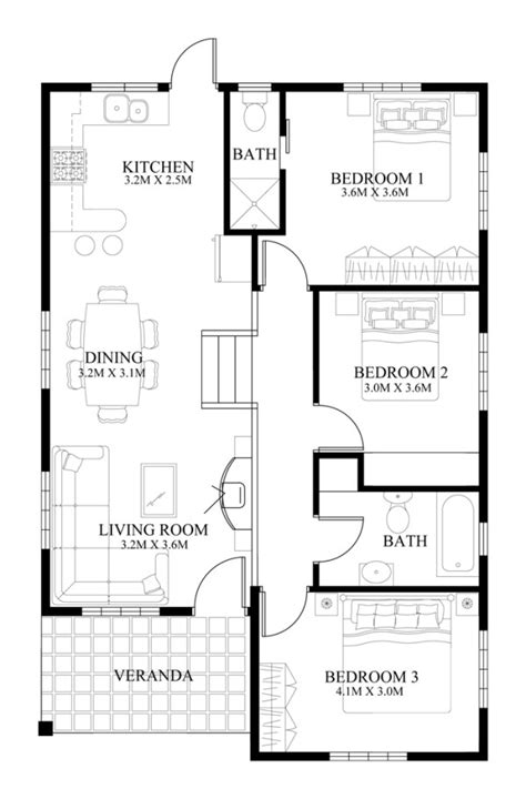 floor plan of small house small house design 2014005 eplans