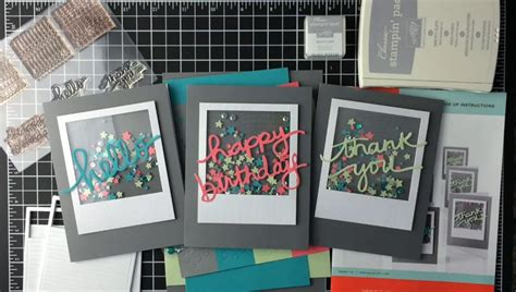how to make a shaker card how to make shaker cards ink it up with card