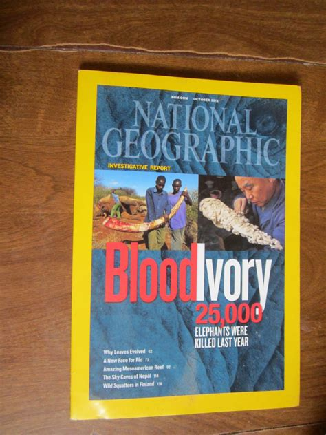 national geographic vol 222 no 4 october 2012 blood ivory 25 000 elephants killed last year g3 4