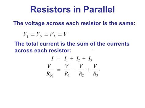 resistors in parallel increase voltage electric currents and resistance ppt