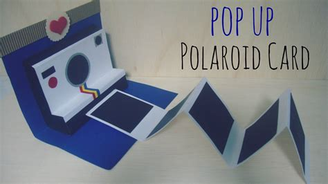 polaroid pop up birthday card with printable template manualidades para regalar pop up polaroid card
