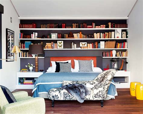 bedroom bookshelves contemporary classic mix perfected erika brechtel