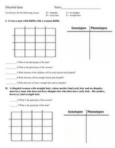 dihybrid cross problems worksheet abitlikethis
