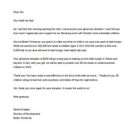 charity event thank you letter template fundraising letter template 7 free word pdf documents