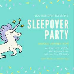 Free Sleepover Invitations Templates by Sleepover Invitation Templates Canva