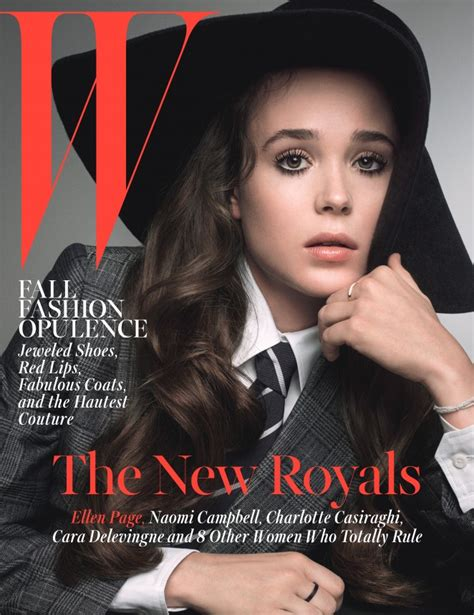 2015 w magazine cover october ellen page w magazine cover october 2014