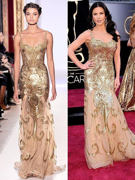 Catwalk To Carpet Catherine Zeta Jones best oscars dresses from runway to carpet repeat